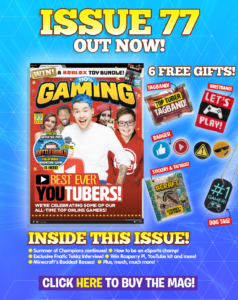 Image advertising the current issue of 110% Gaming Magazine - linking to the subscription option.