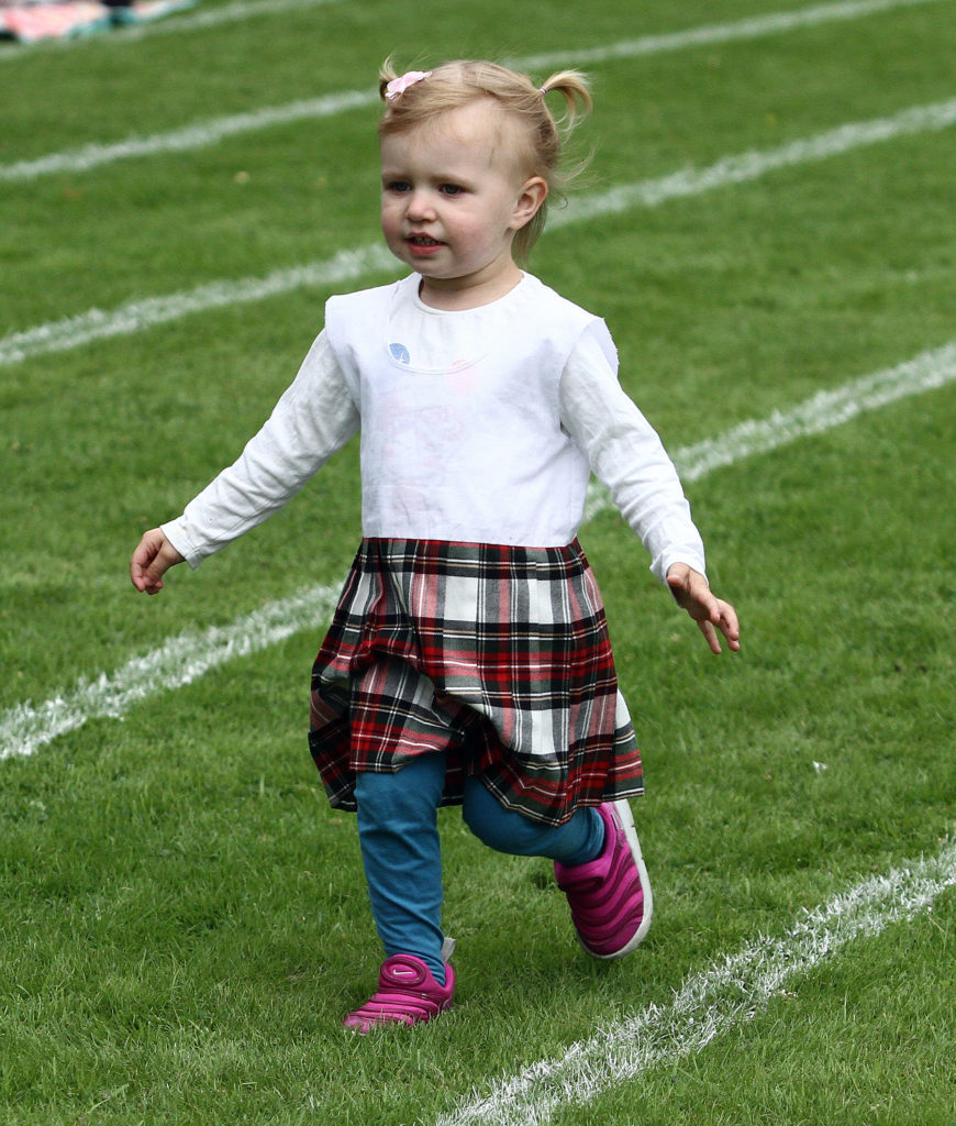 The children's races were popular at Inveraray highland games. Photograph: Kevin McGlynn