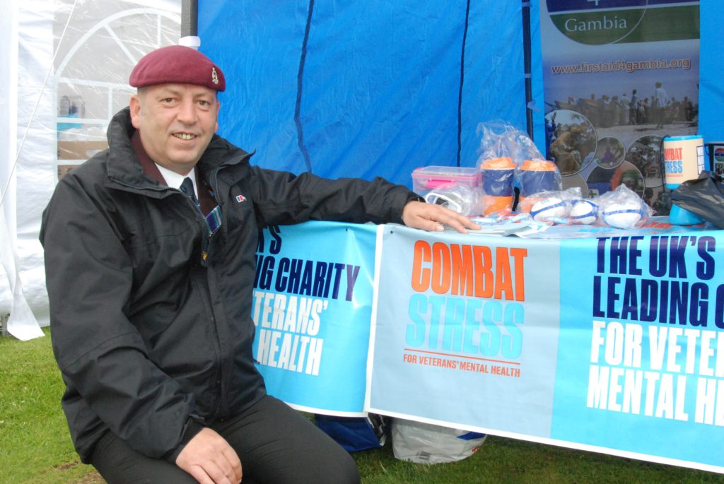 Representing the charity Combat Stress was Lochgilphead-based Heath Pinder, who said: 'I've come through the other side of PTSD and if I can help someone else, I will.'