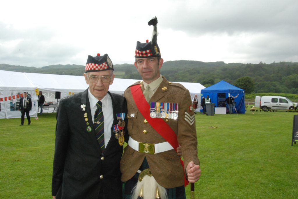 AFD chairman Geordie Rhodick with his son, Staff Sergeant David Rhodick