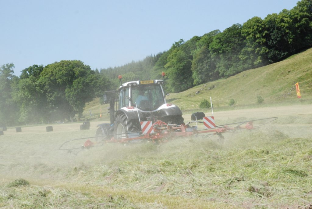 Ideal weather for the tedder