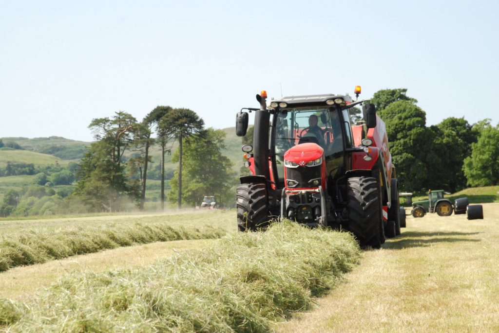 Alastair Dixon demonstrates the RB 3130F Protec baler/wrapper