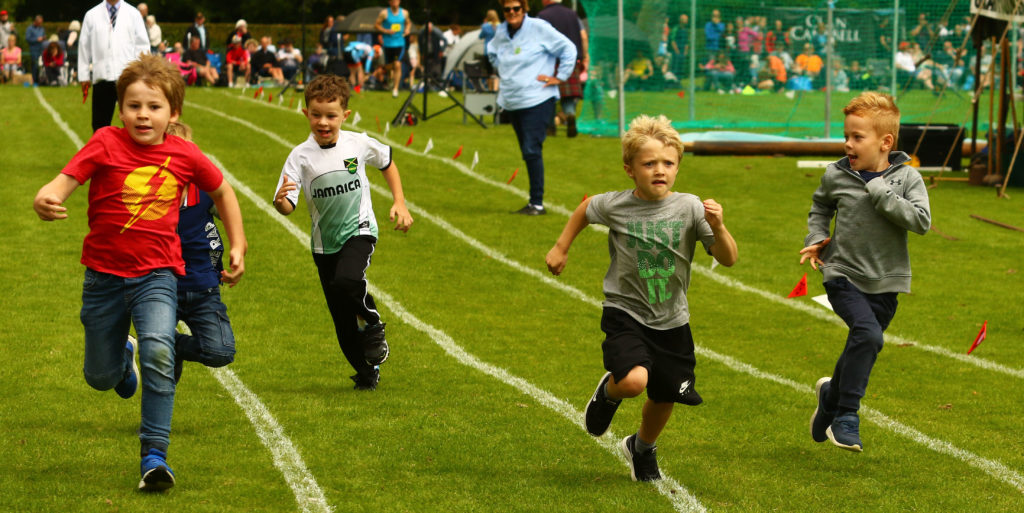 All these young athletes were winners, receiving sweets as a prize. Photograph: Kevin McGlynn