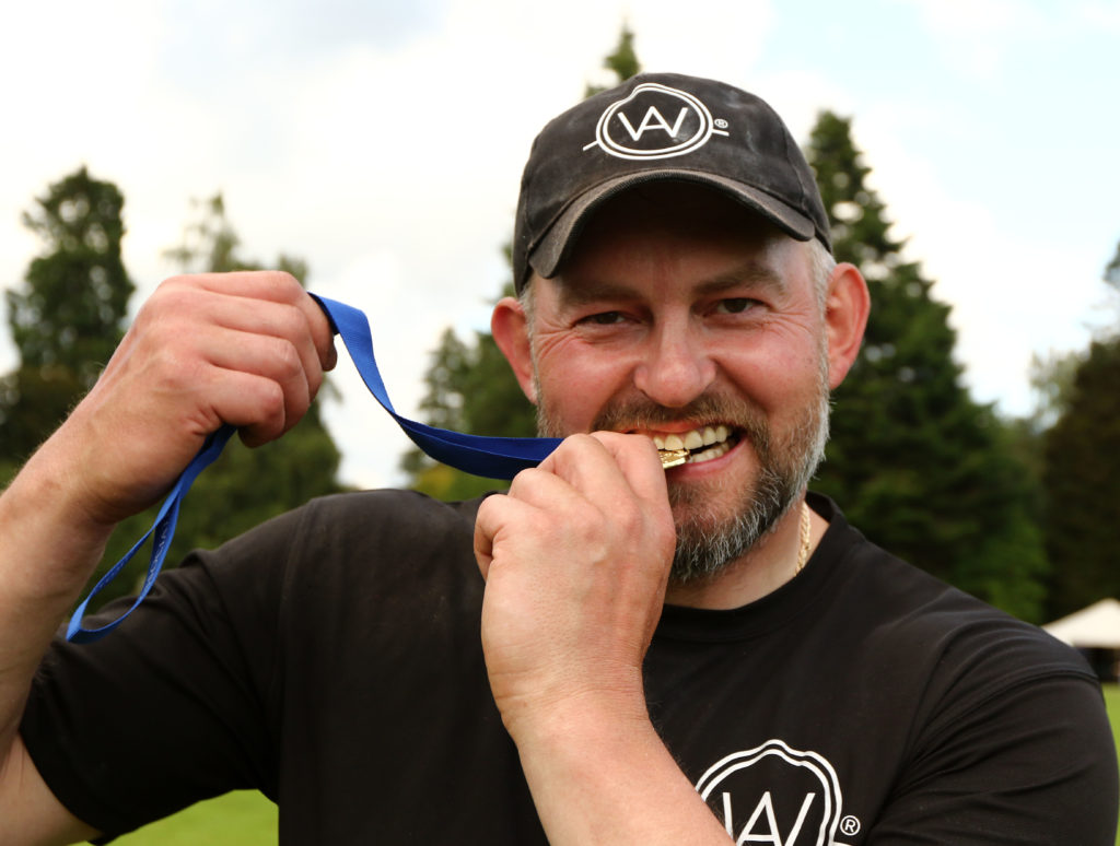Lukaz Wenta Poland winner of the world caber tossing championship in Inveraray on Tuesday. Photograph: Kevin McGlynn