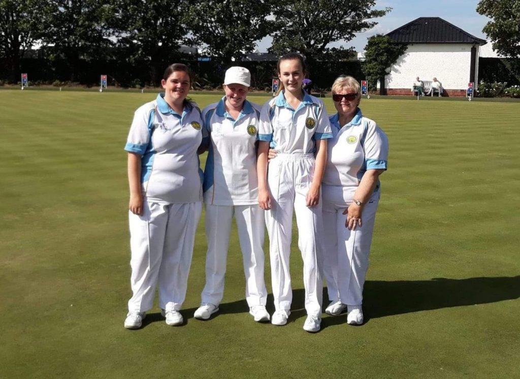 Ladies district champions Claire Macindoe, Kimberly McAdam, Hannah Johnson and Liz Johnson