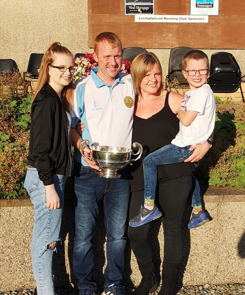 Gents champion Craig Bruce with family