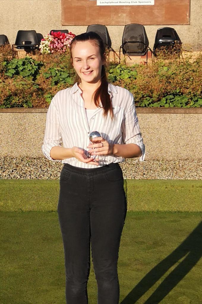 Ladies champion Hannah Johnson