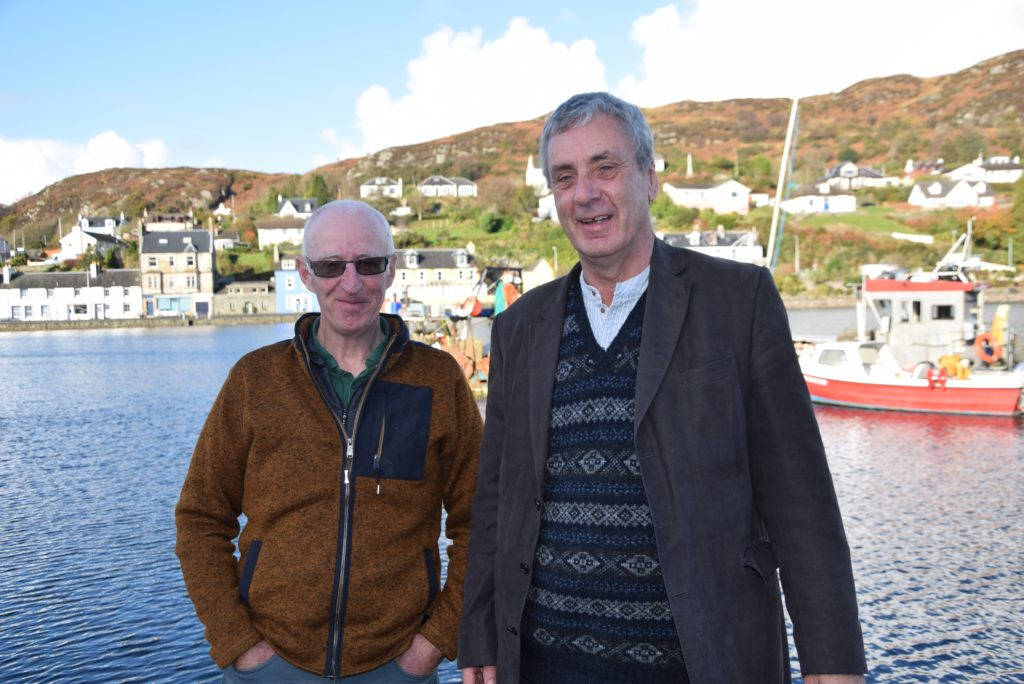 Donald S Murray (right) with former chairman of the Clyde Fishermen's Association, Kenny MacNab