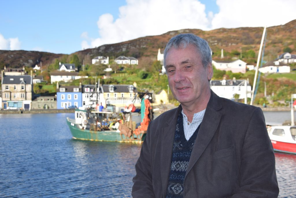 With a rich herring fishing heritage, Tarbert was a perfect place for Donald S Murray to present his book 'Herring Tales'