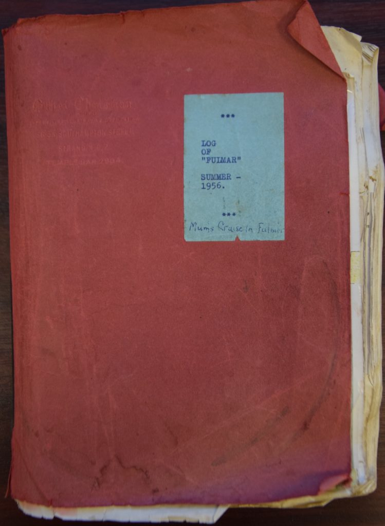 Typed and bound, the origin of the 1956 log is a mystery