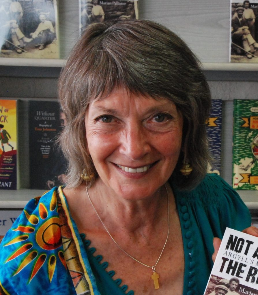 Marian Pallister, writer and (among many other roles) founder of Zambian aid charity ZamScotEd:  'To work for a fairer society, remembering always that my ecological footprint impacts on people around the globe.'