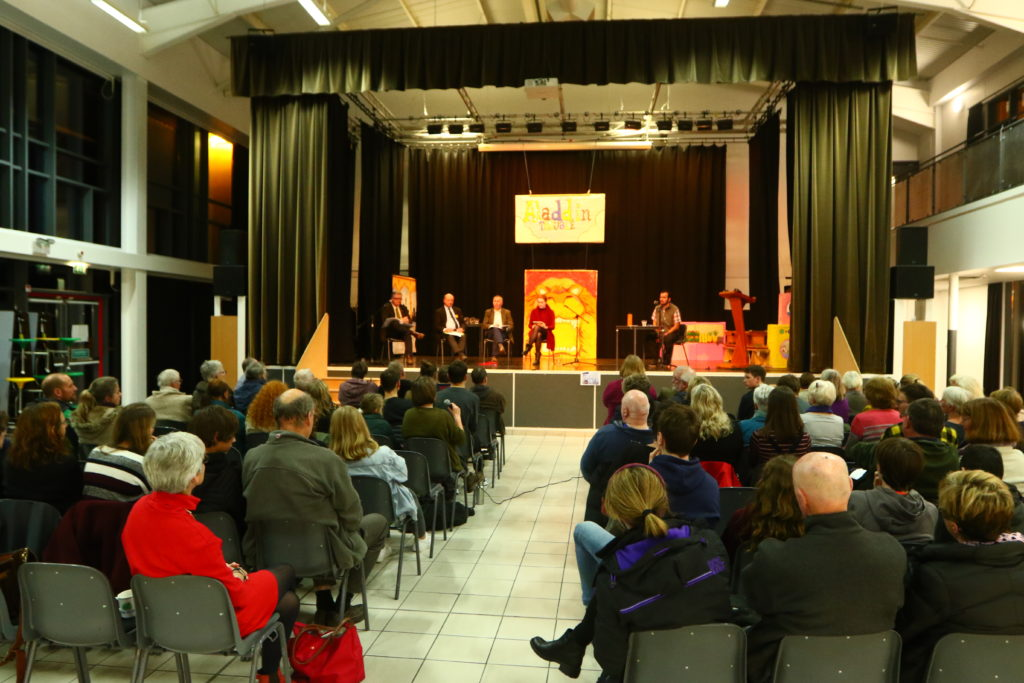 Around 90 people turned out for the hustings