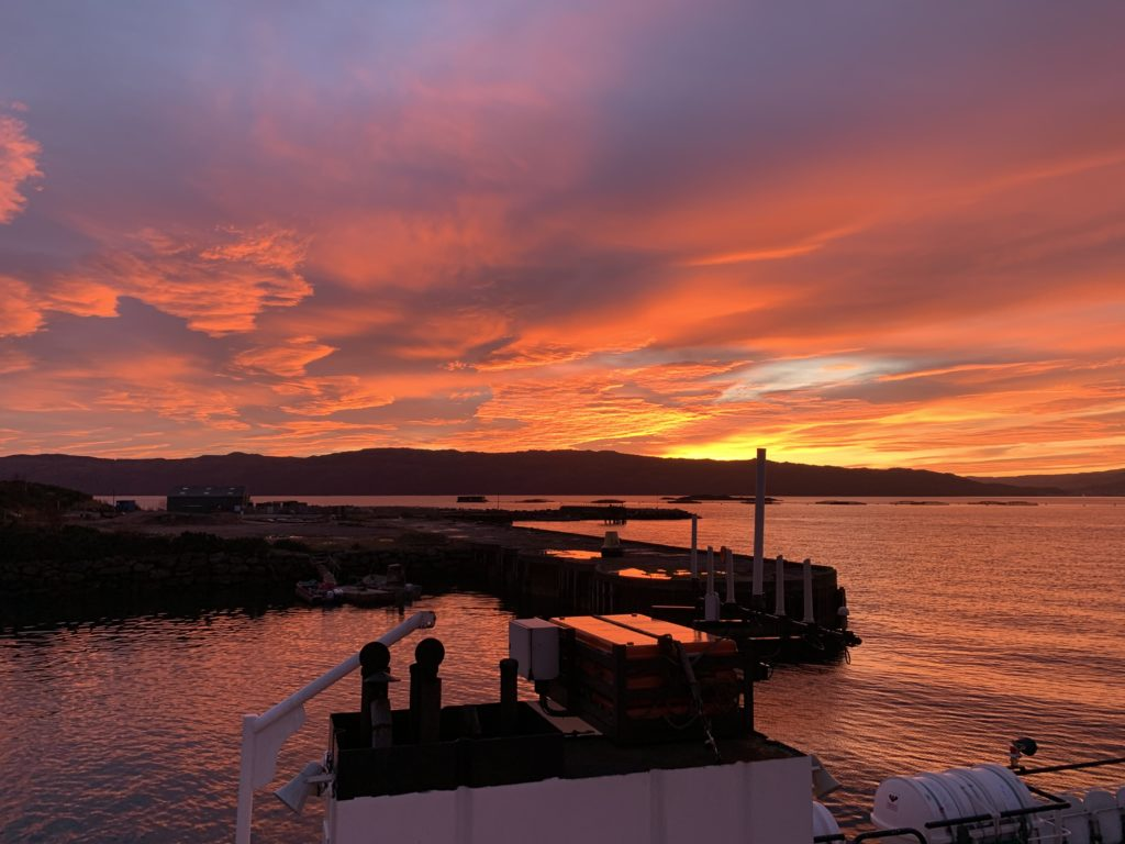 Taken from the Tarbert-Portavadie ferry, this photo was taken, looking towards Tarbert, by Colin McNicol