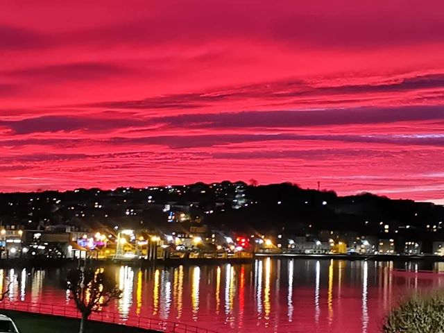 This stunning scene over Oban was caught by David Templeton Craig