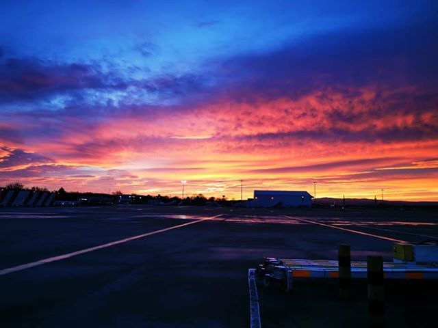 David also took this photograph at Glasgow airport