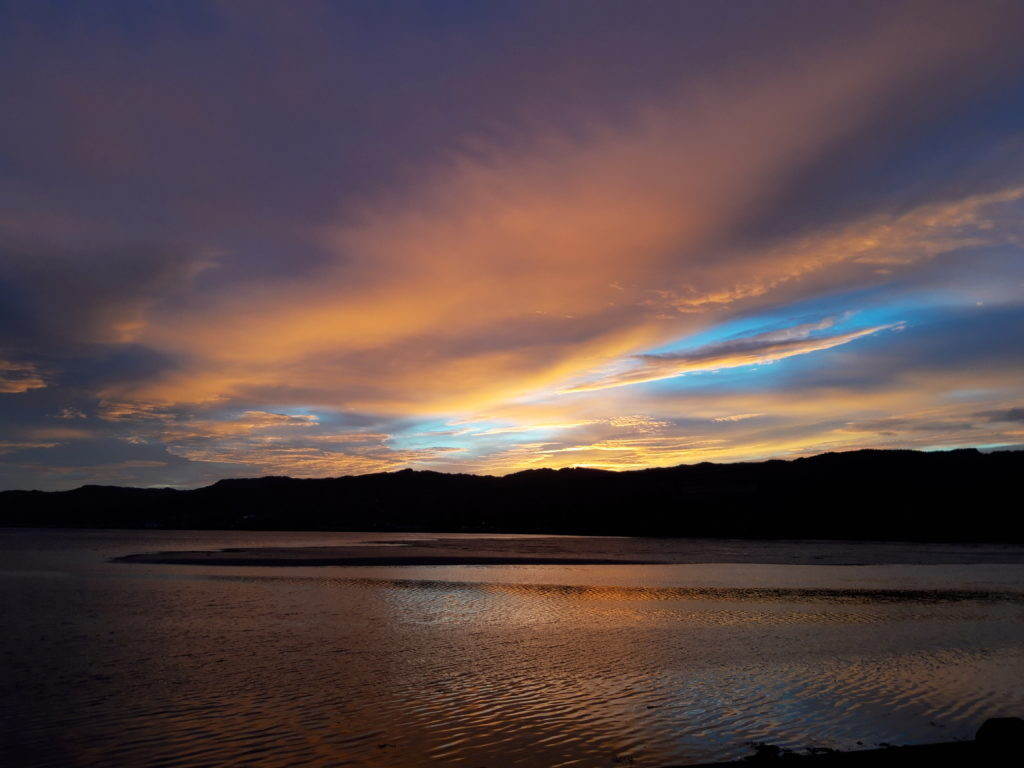 Jane Knowles took this photo of the sun setting over Loch Gilp