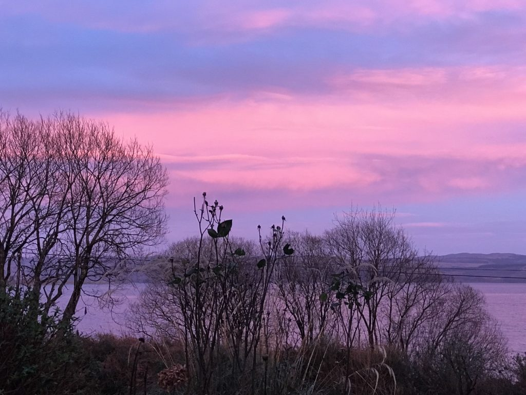 The sky photographed from just outside Ardrishaig, taken by Julie Galvin