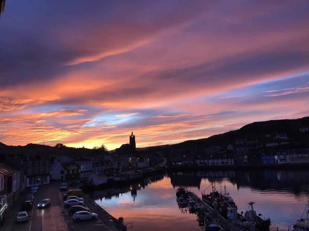 A spectacular Tarbert sunset, by Lee Warren