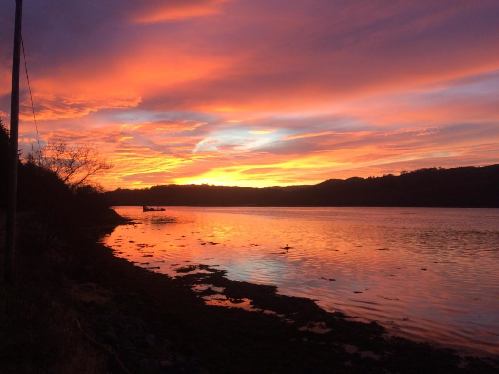 Linda Brown took this photograph outside her West Loch Tarbert home