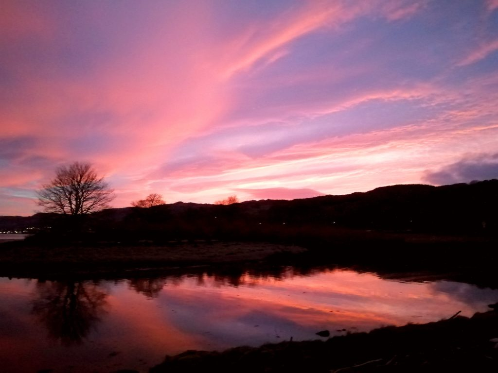 Sunset over the Corran, Lochgilphead by Lynsey Gibson