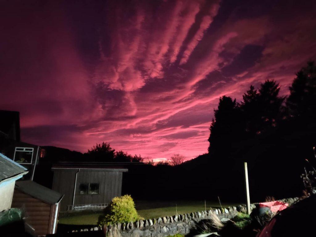 Shauna Brown captured this purple sky over Tarbert
