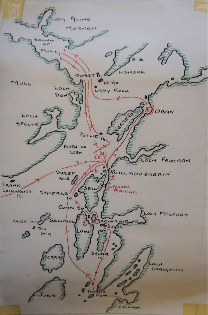 'Track chart - Crinan to the Sound of Mull'