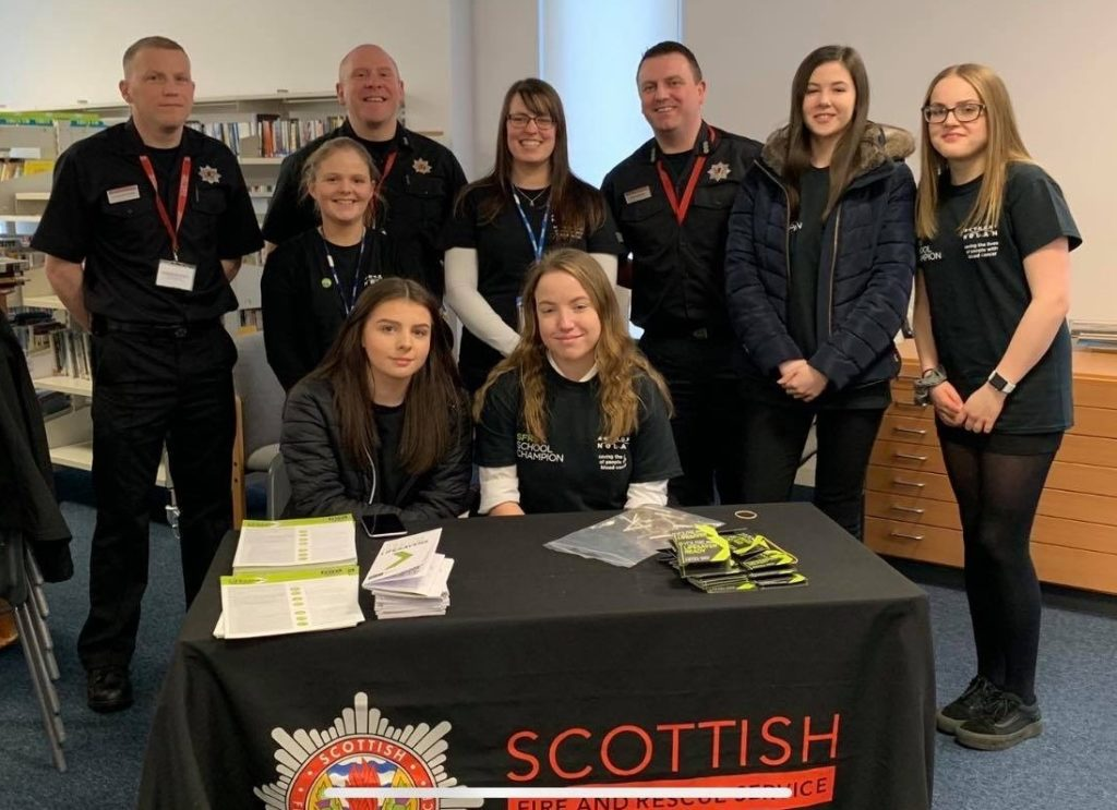 Lochgilphead High School pupils team up with Scottish Fire and Rescue Service for Anthony Nolan
