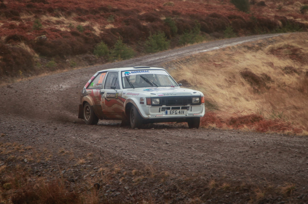 Alister MacArthur and co-driver Claire Tilley placed third in Class 7. Photograph: West Coast Photos