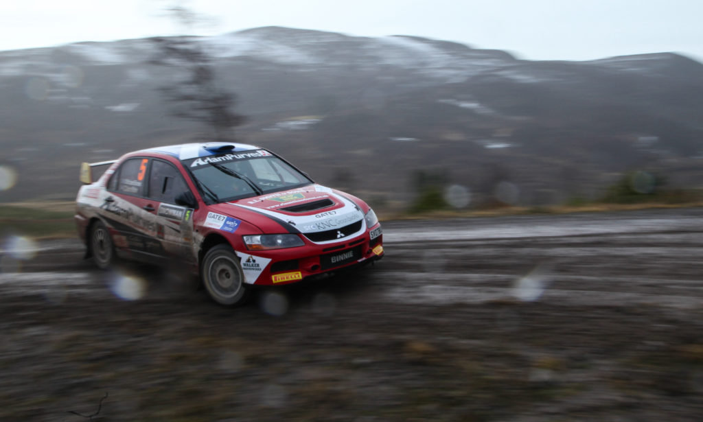 Rally winners Michael Binnie and Clare Mole. Photograph: West Coast Photos