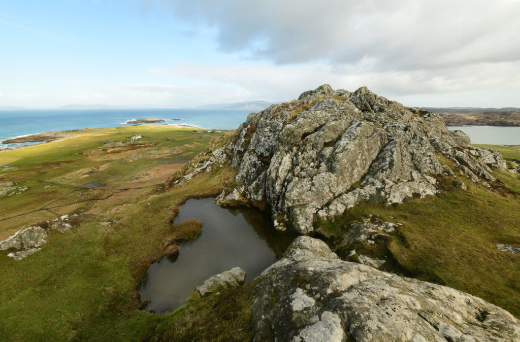 Tobar na h-Aois ('The Well of Age') close to the summit of Dun I, Iona. Pic by Phil Cope