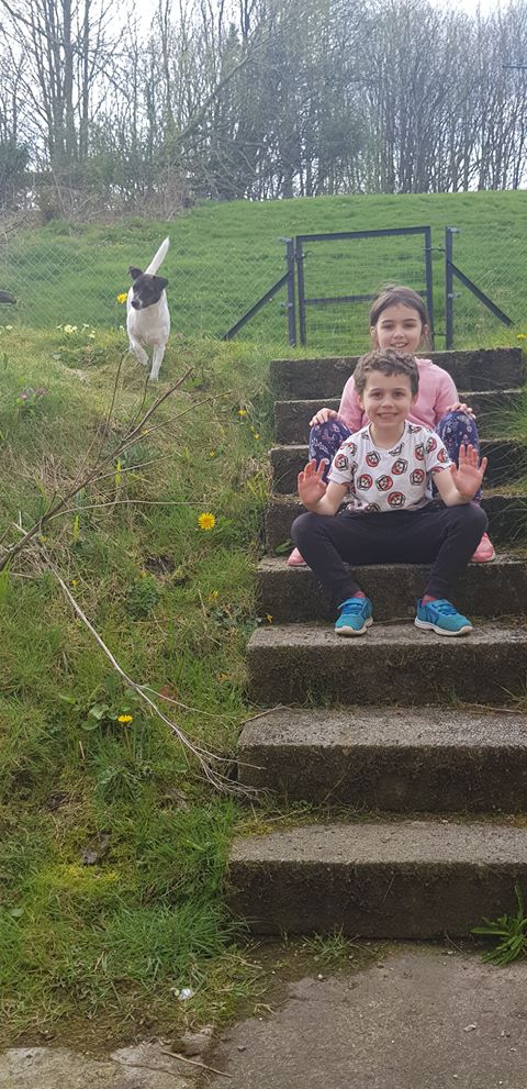 Having a great time at an Easter Sunday family barbecue in Ardrishaig were Archie, aged 7, with Miley, 9, and Blaze the Jack Russell. Thanks to step-mum Chloe McChesney for the photograph
