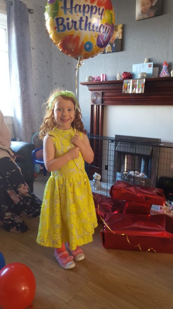 Lily Ann Galloway from Lochgilphead turned six years old on Saturday May 2. Lily made cakes and had a great time in the paddling pool on her special day