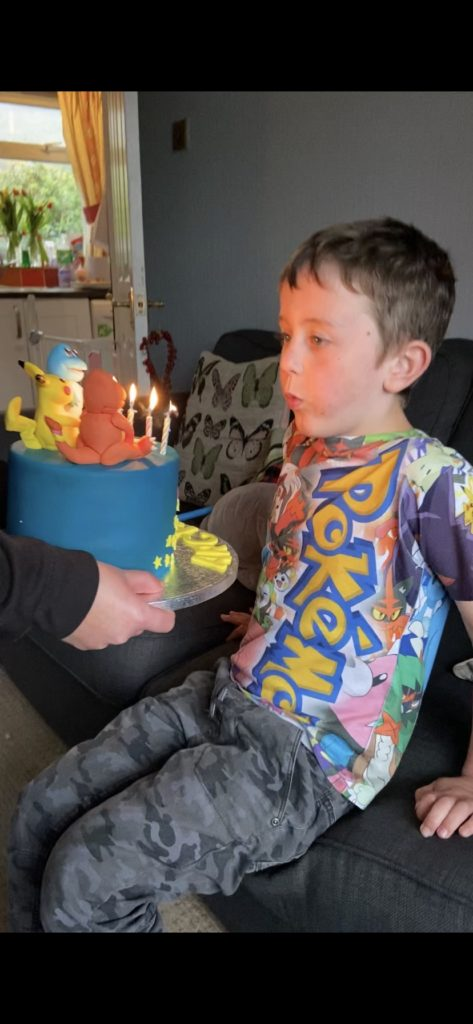 Pokemon fan Archie Preston celebrated his seventh birthday under lockdown. Archie had a great day under the circumstances and even had a special Pokemon cake