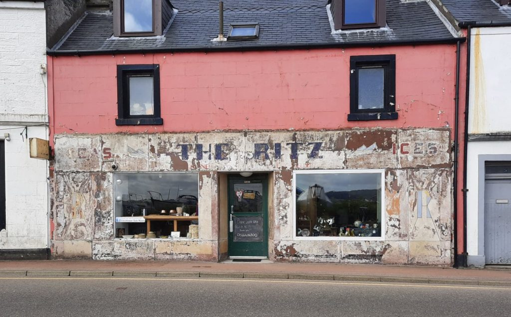 The faded facade uncovered last month