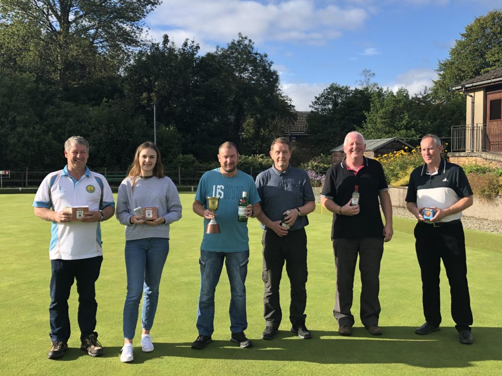 The semi-finalists in the Alf Branch Pairs - Scott Gargan, Hannah Johnson, Archie MacVicar, Donald Crawford, Colin MacInnes and Roddy MacDonald