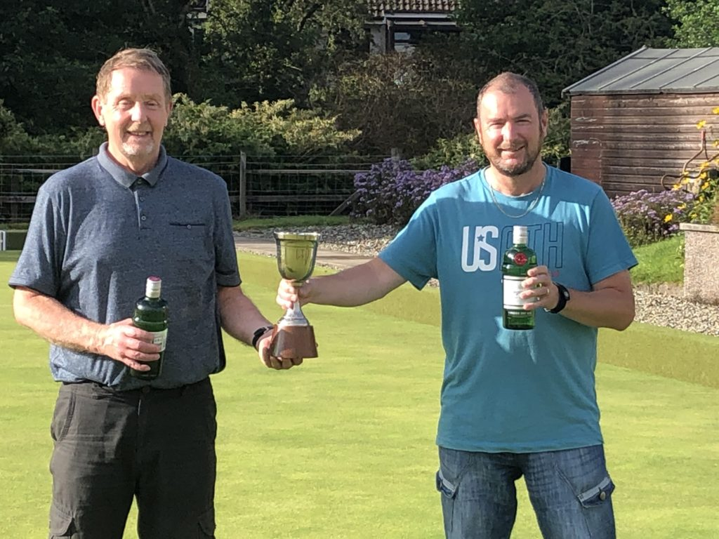Archie MacVicar and Donald Crawford, winners of the Alf Branch Pairs