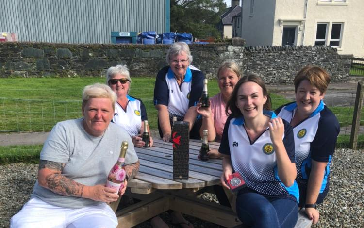 Some of the Lochgilphead Ladies enjoying the sunshine following the recent ladies singles event
