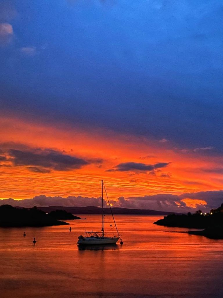 This stunning fiery sunrise over Cowal from Tarbert was captured by Tarbert's Janet West on Tuesday October 27