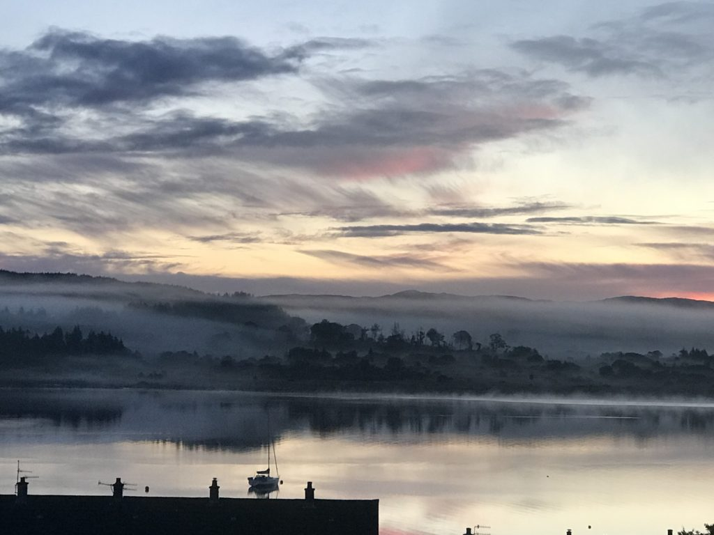 This featured photo was submitted by Duncan Cameron, who said: 'This was taken on October 2, looking from Ardrishaig over Johnny Law's shop rooftop. The picture was taken by Lilly Cameron on her dad's phone.'