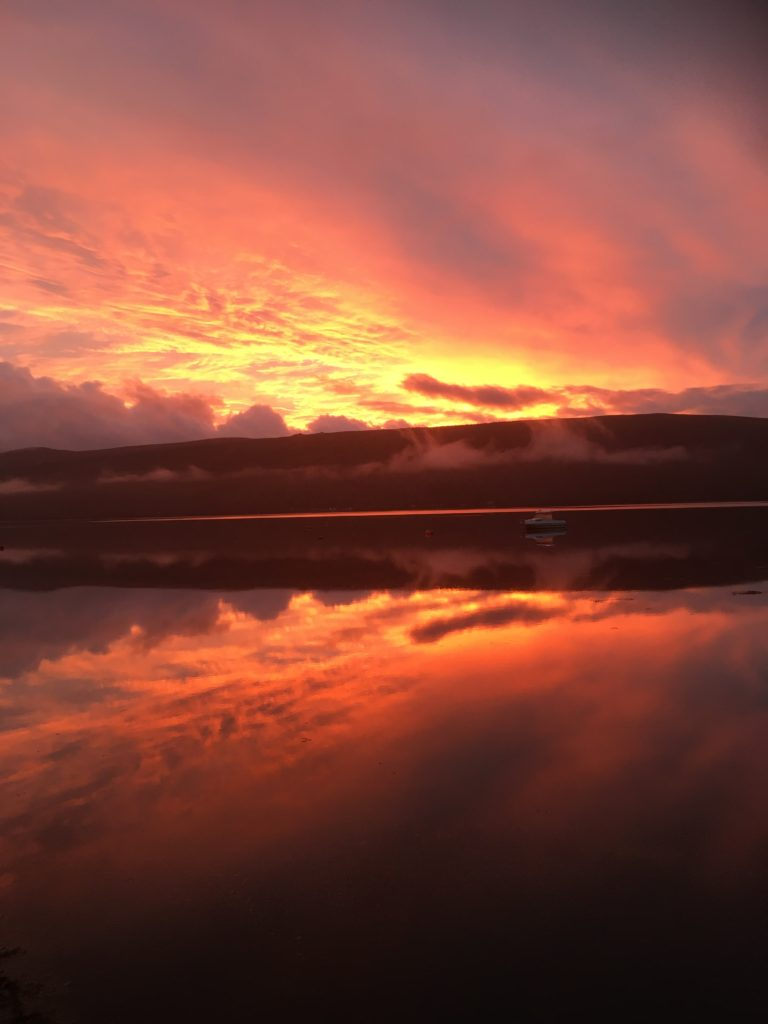 Reader Chrissy Ryder was up bright and early to capture this spectacular sunrise from Argyll Caravan Park, Inveraray looking across Loch Fyne to St Catherines.