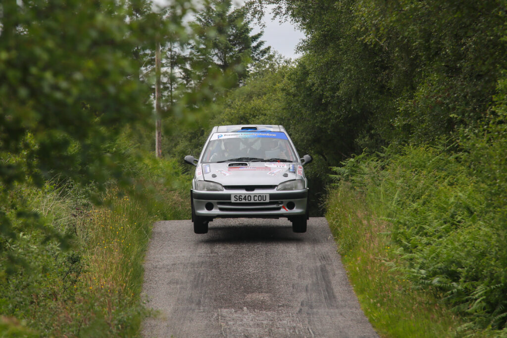 Duncan MacLean and Ross Callander's Peugeot 106 GTi had clutch problems - but the pair finished strongly