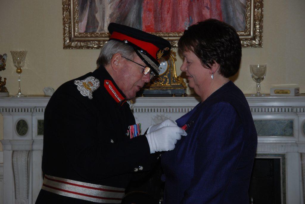 Margaret receives her honour