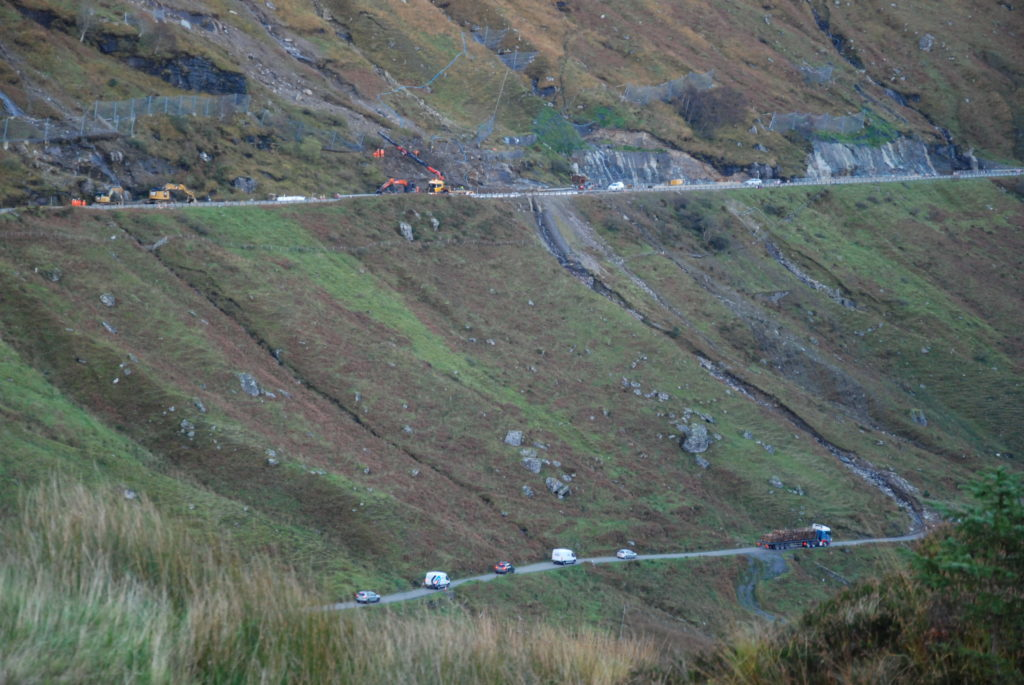 A83 landslide bypass route reopens