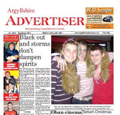Argyllshire Advertiser PDF Archive 2007