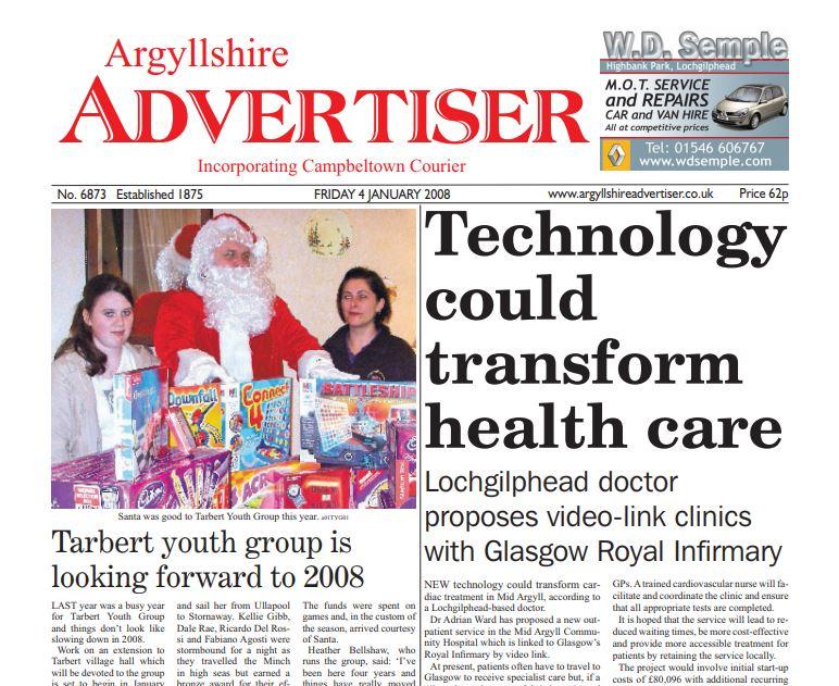 Argyllshire Advertiser PDF Archive 2008