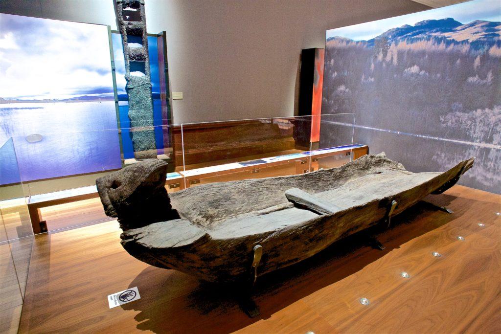 Glashan log boat launches Lochgair Long Memories