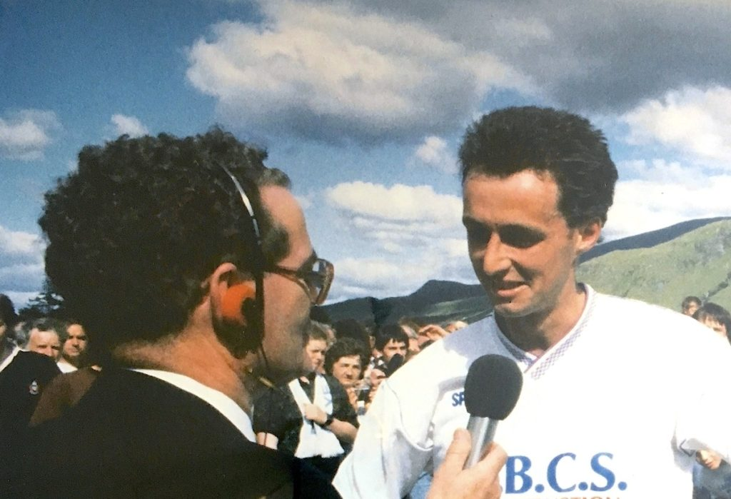 John Willie Campbell, the voice of shinty