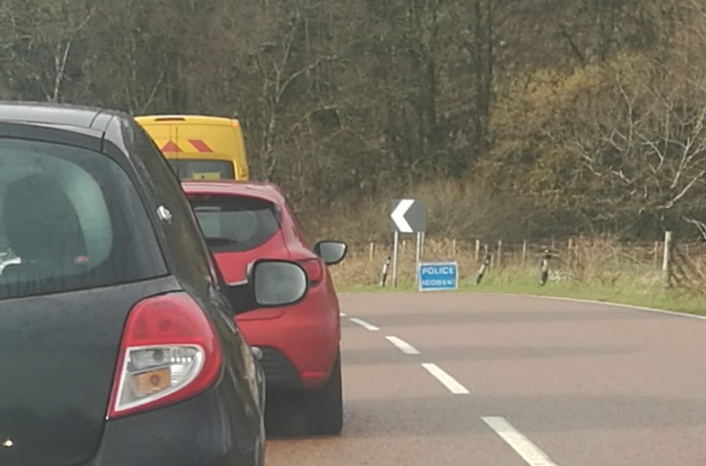 Accident closes Argyll trunk road