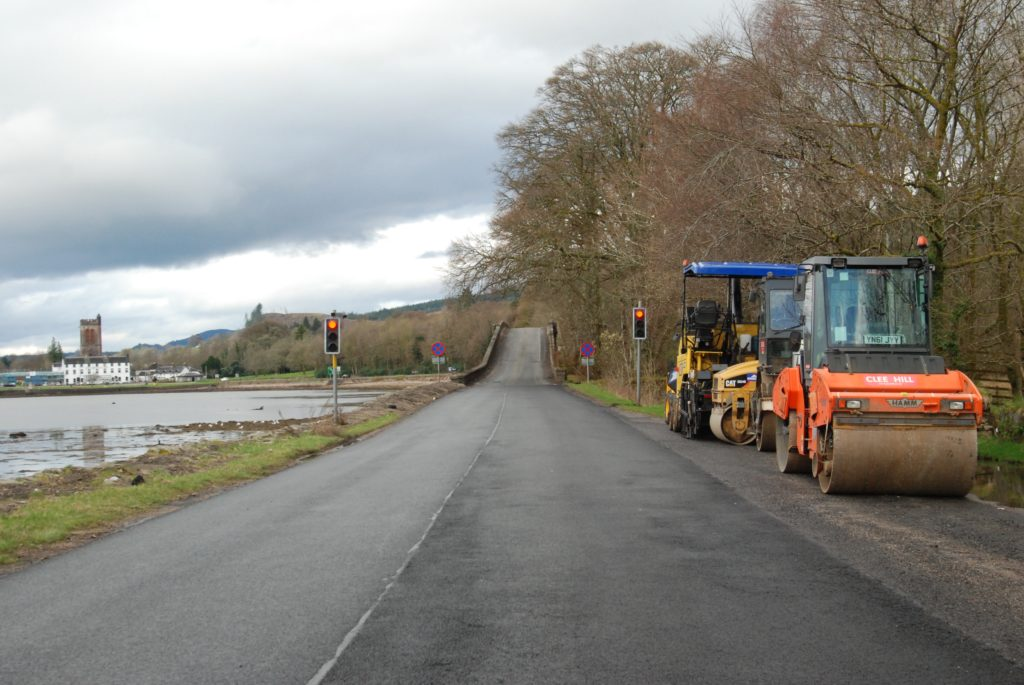 Stonefield extended another night, delaying Aray Bridge A83 closure