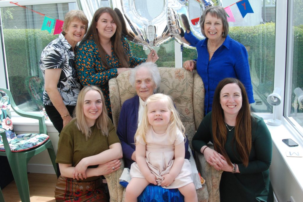 Mary's 105th birthday celebrated with family